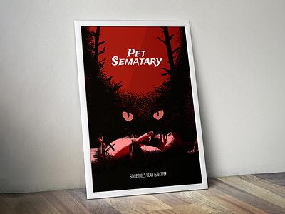 Pet Sematary Poster painting illustration design movie poster horror stephen king petsematary pet sematary