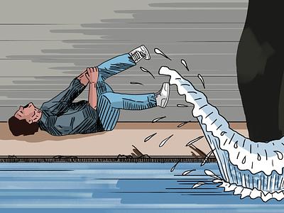 Chase scene culvert la river patrick swayze keanu reeves point break