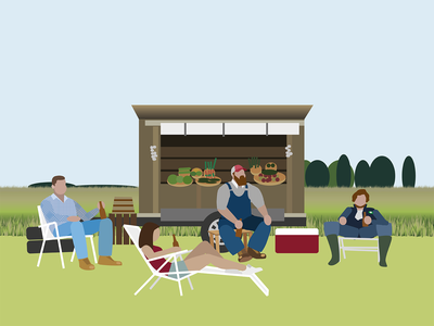Letterkenny market farm illustration design letterkenny