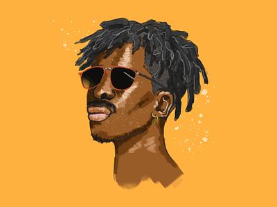 1 hour hair study portrait illustration design art dreadlocks painting