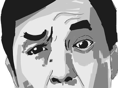 30 min study - eyes illustration design portrait jackie chan eyes painting study