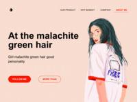 malachite green hair