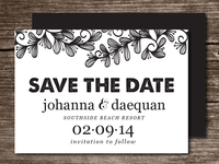Doodle Swirl Leaves Save the Date