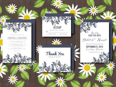 Wedding Invitation Suite leaves