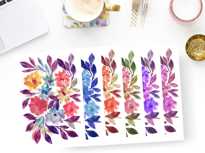 Hand Painted flowers design painting etsy digital download flowers watercolor hand painted