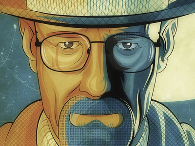Say my name bryancranston wacom illustrator adobe vectorartwork digital amc breakingbad walterwhite heisenberg illustration