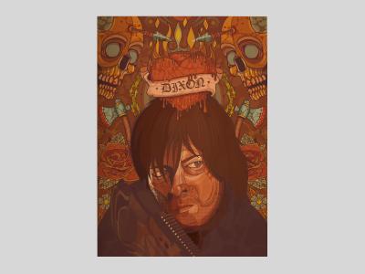 Daryl Dixon twd thewalkingdead daryl portrait inspiration graphicdesign wacom characterdesign character illustration illustrator