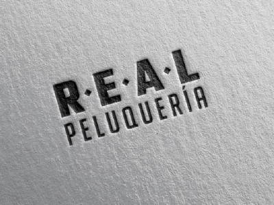 Real Peluqueria logo lettering illustrator illustration graphicdesign caligraphy branding brand barber barbershop