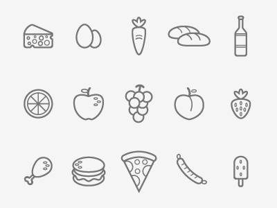 Supermarket icons uidesign ux ui graphicdesign flat flatdesign app shop grocery market icon icons