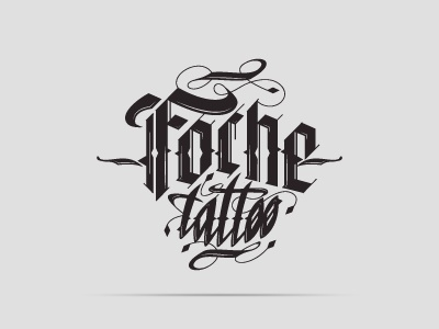Foche Tattoo wacom tattoostudio tattoo logo lettering illustrator illustration graphicdesign gothic brand black adobeillustrator
