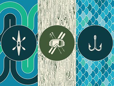 Outdoor Stories branding graphic outdoors symbol vector pattern graphic design