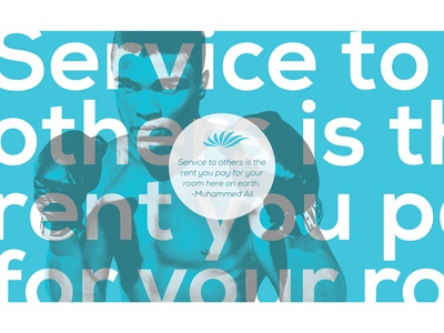 Service to Others - Muhammed Ali graphic design type vector typography blue graphics graphic design quote