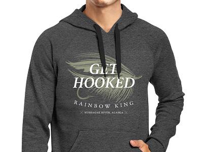 Sweatshirt Comp graphic design sweatshirt graphics fly fishing graphic apparel screenprint alaska fishing