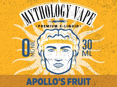 Apollo graphic design illustration graphic gold print branding texture vector color vape label