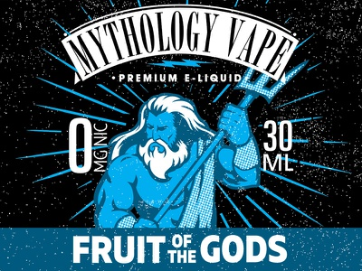 Fruit of the Gods graphic design print texture vector illustration branding graphic label poseidon gods mythology vapes