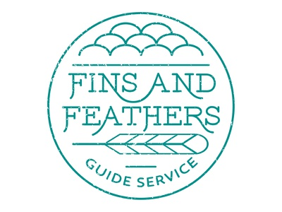 Fins & Feathers graphic design mono-weight identity simple clean graphic branding typography design texture vector logo