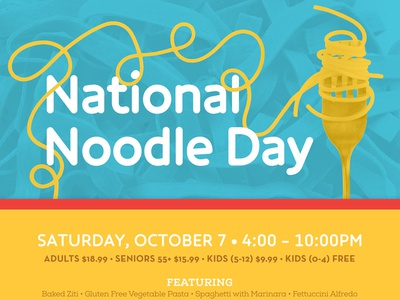 Sometimes, all you get are noodles food restaurant pacific northwest print poster clean vector duotone bright noodles