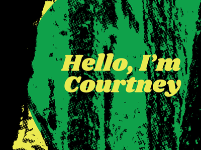 Hello cooper black woods funky identity vector design graphic design halftone colors texture