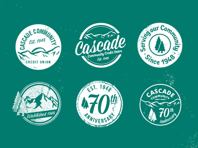Even banks need tees tee vector design cascade pnw bank anniversary distressed t-shirt