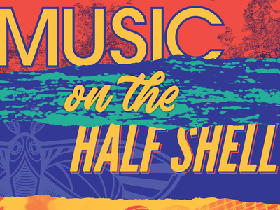 Half Shell organized chaos summer concert music textured typography texture graphic design design vector
