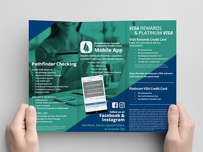 Bank brochure typography mockup photography bank graphic design design print brochure