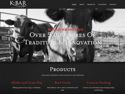 K-Bar Ranches Launch ui identity typography ranch black and white website graphic design design