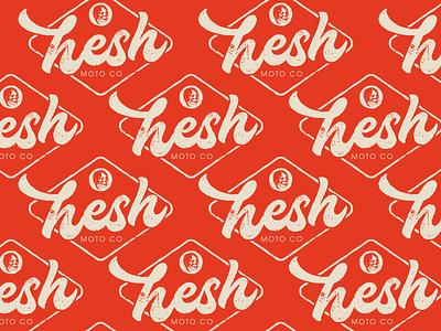 Hesh Badge distressed motorcycle badge texture design vector graphic design