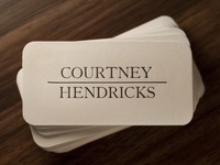 Letterpress biz card