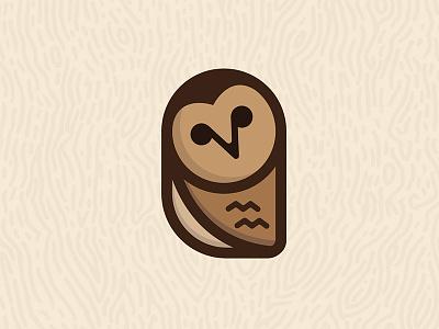Curious Owl owl brand brand identity curious flat flat design flat color wood