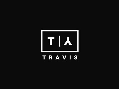 Personal Logo Mark white logo travis black identity branding brand