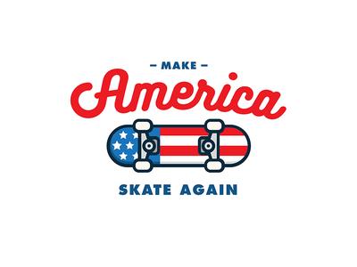 Make America Skate Again! drumpf trump script skateboarding america blue white red skate