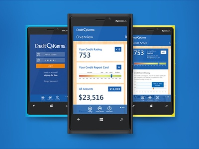 Credit Karma For Windows Phone nokia app phone windows blue karma credit