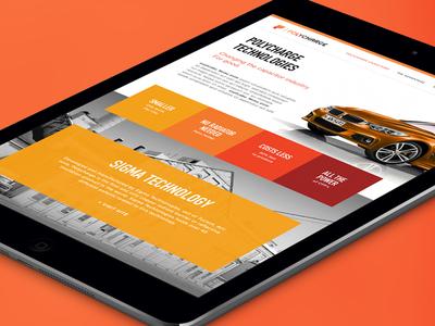 Polycharge Website web electricity design ui website electric orange