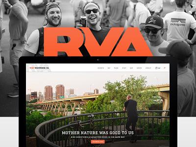 Visit Richmond Virginia orange ux ui virginia richmond website web