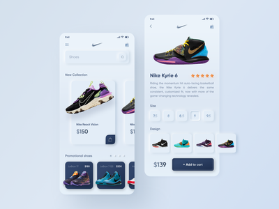Neumorphism Online store Nike app concepte dribble shop nike online shop website mobile ui mobileapp mobile intarface figma uxdesign uidesign webdesign design neumorphism