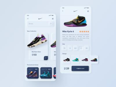 Neumorphism Online store Nike