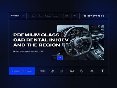 Car rental website volkswagen mercedes porsche auto tesla luxury design services interface uxdesign uidesign dark audi website rent car rental car