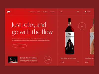 Wine shop concepte online store e-commerce landing page website uidesign uiux pink restaurant food clean wineshop winery drink wine bottle