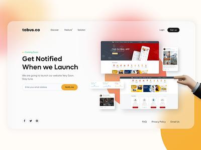 Coming soon - Landing page landingpage website finance crypto motion graphics graphic design 3d app minimal logo illustration design branding animation