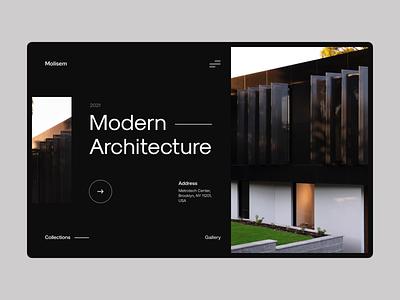 Molisem - Architecture website layout clean architecture website ux ui minimal logo design branding