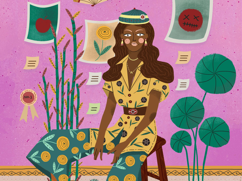 Fashion girl-1 desgin illustration
