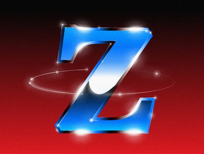 """Z"" type font glitter colors drawing color design illustration"