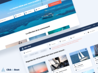 Click & Boat Redesign - concept webapp web product ux color branding ui colors design