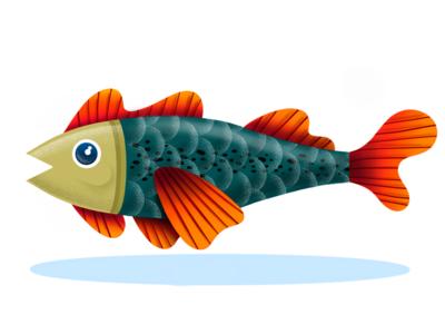 El pescado color fish illustration