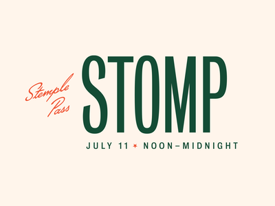 Stemple Pass Stomp music music festival retro vintage typogaphy wordmark