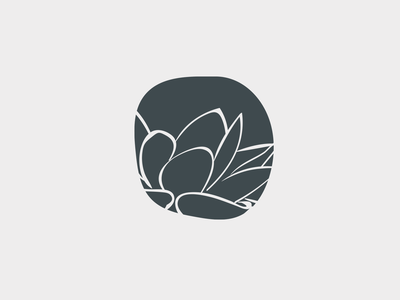 Lotus Mark organic ink calligraphy luxury interior design logo mark flower
