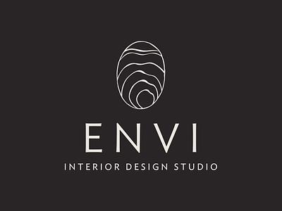 Envi Interior Design Logo mountain modern luxury boutique fingerprint thumbprint sustainable natural illustration type logo interior design