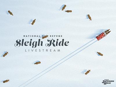 Sleigh Ride Livestream snow announcement livestream hole jackson visit refuge elk horse ride sleigh