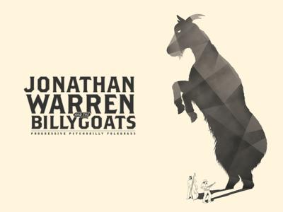 Jonathan Warren and the Billy Goats shadow goat tour poster folk bluegrass bass banjo band