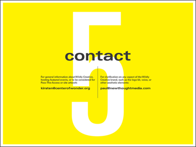 Wildly Creative Contact Page typography guide style brand univers bold layout contact